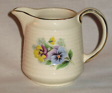 A very attractive Art Deco Jug by Sadler decorated with pansies