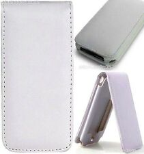White Leather Flip Case Cover iPhone 2G/3G/3GS - UK
