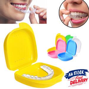 Dental Guard Storage Case Teeth Mouth Denture Sport AU Orthodontic Retainer Box