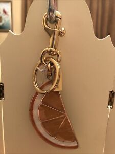 Coach Orange Slice Bag Charm  Keychain/Ring 1631 NWT