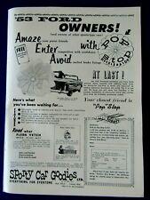 "POP STOP Decelerator Parachute Sporty Car Goodies 1959 Original Print Ad 8.5x11"""