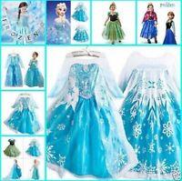 FROZEN ANNA ELSA PRINCESS DISNEY KIDS COSTUME PARTY FANCY GIFT DRESS/CROWN TIARA
