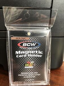 5 BCW Regular Card 35pt Point Magnetic Card Holders with UV Protection