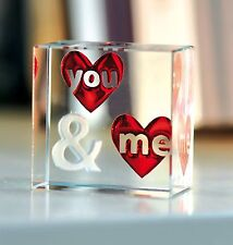 Spaceform You & Me Glass Valentines Romantic Love Gift Ideas for Her & Him 1749