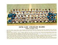 1970 LOS ANGELES RAMS 8X10 TEAM PHOTO GABRIEL OLSEN  FOOTBALL NFL HOF USA