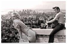 Marilyn Monroe Elvis Presley Vintage Photo - Quality Canvas Art Print A2