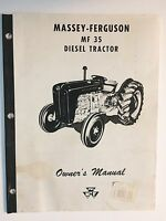 Massey-Ferguson MF 35 Diesel Tractor Operator's Owner's Instruction Manual Book
