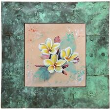 "Original painting - Contemporary by Gabriele Liedtke ""Plumeria"" Flower Garden"