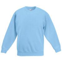 Boys Girls Unisex Jumper Sweatshirt Crew Neck School Uniform Ages 1-15