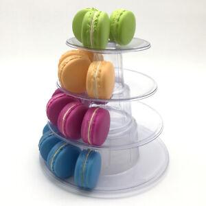 4 Tiers Stackable Display Rack Macaron Cake Stand Transparent Reusable Durable