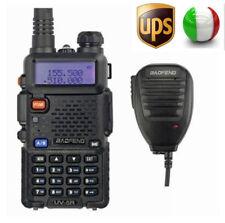 UPS! Baofeng UV-5R + MICROFONO 2m/70cm FM Radio RICETRASMITTENTE Walkie Talkie