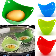 4pcs x Silicone Egg Poacher Poaching Pods Pan Poached Cup Mould Kitchen Tool