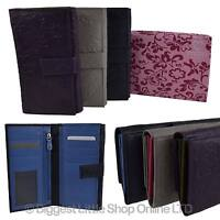 NEW Ladies Long Embossed LEATHER PURSE/WALLET by Mala Rimini Collection Floral