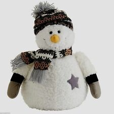 Simon Plush Snowman with Scarf and Stocking Hat Super Soft and CUTE!
