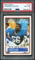 1983 Topps FB Card #133 Lawrence Taylor New York Giants PRO BOWL PSA NM-MT 8 !!!