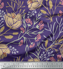 Soimoi Floral Cotton Fabric Craft Sewing Material By the Metre 58 Inches Wide
