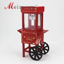 Fine 1:12 scale dollhouse miniature Crafts Gorgeous red  Popcorn cart