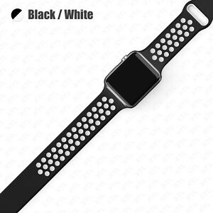 Silicone Band Strap Apple Watch Nike+ Sport Series 7 6 5 4 3 2 1 SE 38/40/42/44