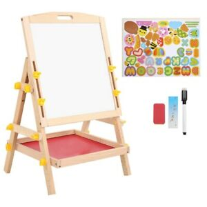 Kid Double-sided Children Drawing Board Standing Painting Board Eraser Chalk Toy