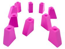 Lego 10x Tuiles en Béton En Foncé Rose (Dark Rose) 65 2x1x2 Bloc Incliné 60481