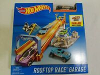 Hot Wheels Rooftop Race Garage Track System Play Set with Car NEW