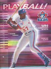 Toronto Blue Jays 2001 Program Play Ball Official Baseball Magazine