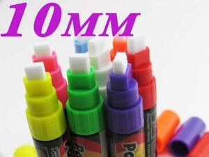 6 pcs Highlighter Fluorescent Liquid Chalk Marker Pen for LED Writing Board 10mm