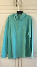 Vineyard Vines Mens Long Sleeve Whale Pocket Hoodie Shirt Capri Blue XLarge
