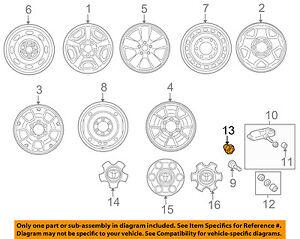 TOYOTA OEM Wheel-Lug Nut 9008494001
