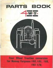 MASSEY FERGUSON TRACTOR 4WT FOUR WHEEL TRACTION 165 168 178 185 188 PARTS MANUAL