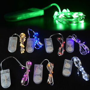 1M 10 LED Battery Power Operated Copper Wire Mini Fairy Light String 8 Colors