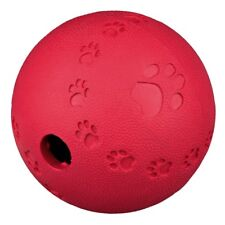 Trixie 7 Cm Rubber Snack Treat Ball Dispensing  Dog Puppy Toy Rolls Bounces