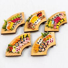 1PCS x Set of Sushi on Wood Tray 1:12 Miniature Dollhouse Handmade Food A1446