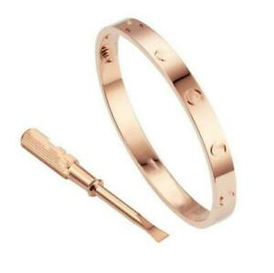 Love Stainless Steel Bangle Screw Bracelet with Screwdriver for Couples Bracelet