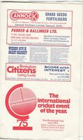 Scorecard - England v Australia 10-15 July 1975 1st Test @ Edgbaston