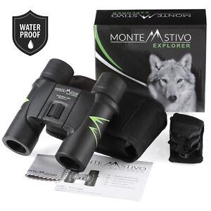 Monte Stivo Explorer   Wasserdicht Premium Kompakt Fernglas 10x26 Klein Leicht