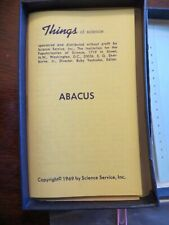 Vintage Abacus Make Your Own Kit Science Math Education How to Use Problems 1969
