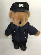 Stuffed Police Bear. 12 Inch Tall.