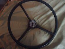 """VINTAGE 1963 FORD TRUCK Steering Wheel BLACK 17"""" or RAT ROD"""