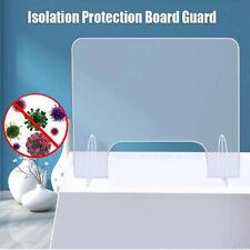 Nail Salon SNEEZE GUARD Acrylic Table Desk Checkout Safety Shield Screen