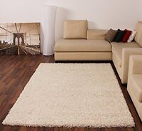 CREAM LARGE SHAGGY RUG EXTRA SOFT THICK MODERN ANTI SHED BEDROOM AREA FLOOR RUGS