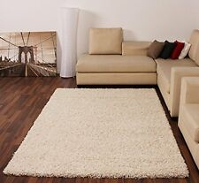 EXTRA LARGE CREAM MEDIUM NEW MODERN SOFT THICK SHAGGY RUGS NON SHED RUNNER MATS