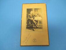 Antique Cabinet Photograph 1918 J.A.Piccione, Michon`s Studio S608