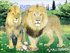 Paper jigsaw puzzles toys for children kids Wild Animal puzzle educational Toys