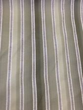 sanderson stripe in green with grey  by the metre