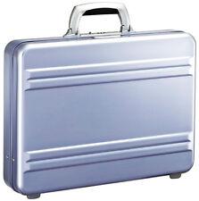 """Zero Halliburton Slimline Collection 3"""" Slim Attache Briefcase - Polished Blue"""