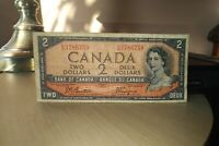 1954 Devil's Face $2 Dollar Bank of Canada Banknote EB3786759