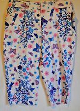 Bill Blass Jeans Stretch White Butterfly Capri Pants Size 22W