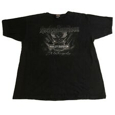 Harley Davidson T Shirt Size XL Pig Trail Rogers, Arkansas Skull Wings Black