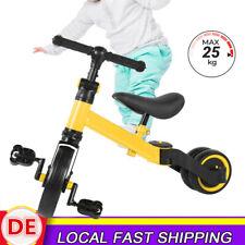 Profi 2in1 Kinderdreirad Lernlaufrad Kinder Roller Fahrrad  Rad Dreirad 25kg DE